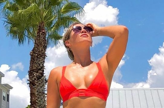 Karin Hart Puts on Her Red and Black Bikini to Show Tiger Woods Some Love