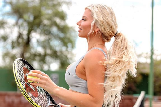 Instagram Model Madisynn Whisler Hits the Tennis Court