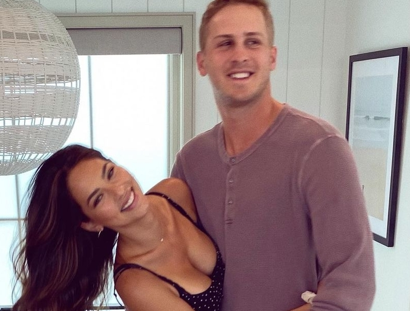 Model Christen Harper Wished Rams QB Jared Goff a Happy Birthday With Her Girls Out