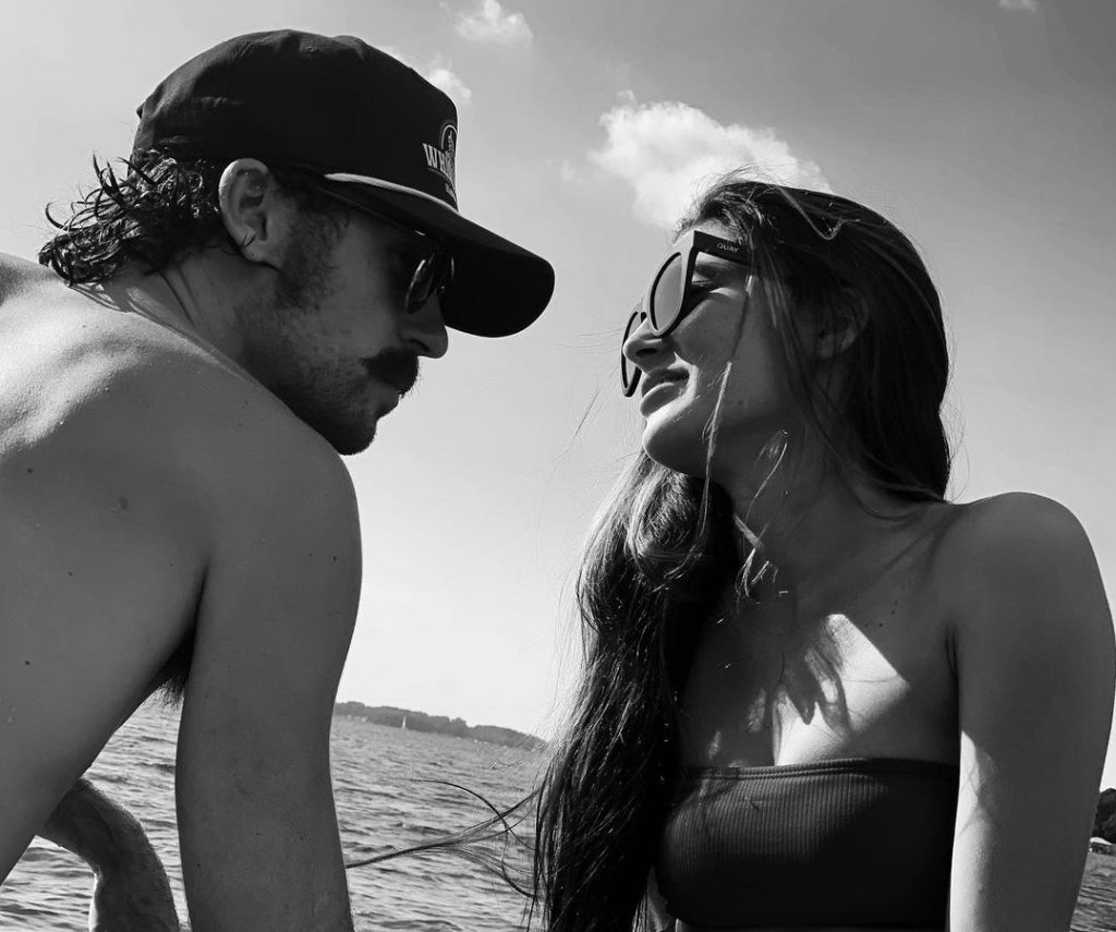 NASCAR Driver Ryan Blaney and His Hooters Girl Girlfriend Had People Wondering if They're Expecting