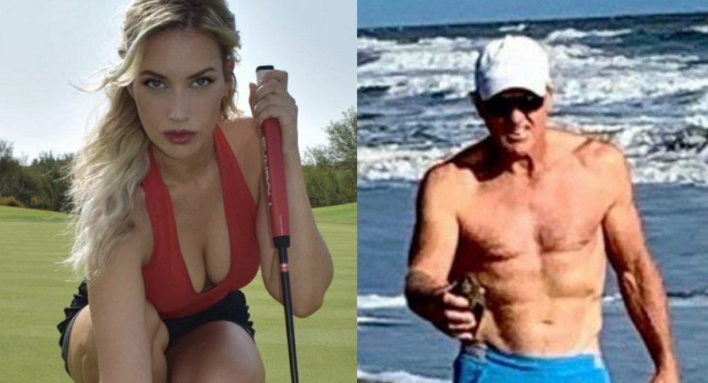 Paige Spiranac Comments on Viral Photo of Greg Norman and His Unit at the Beach