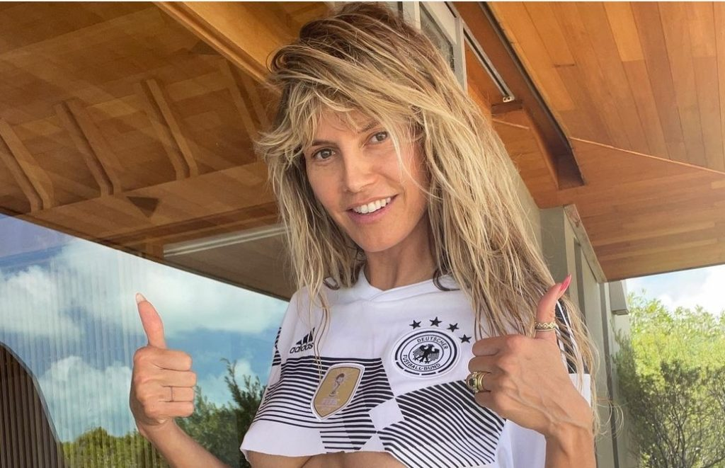 Heidi Klum Cheered on Germany With Her Boobs Hanging Out