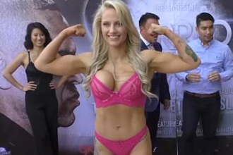 "The ""Blonde Bomber"" Ebanie Bridges is Down to Fight Paige VanZant"