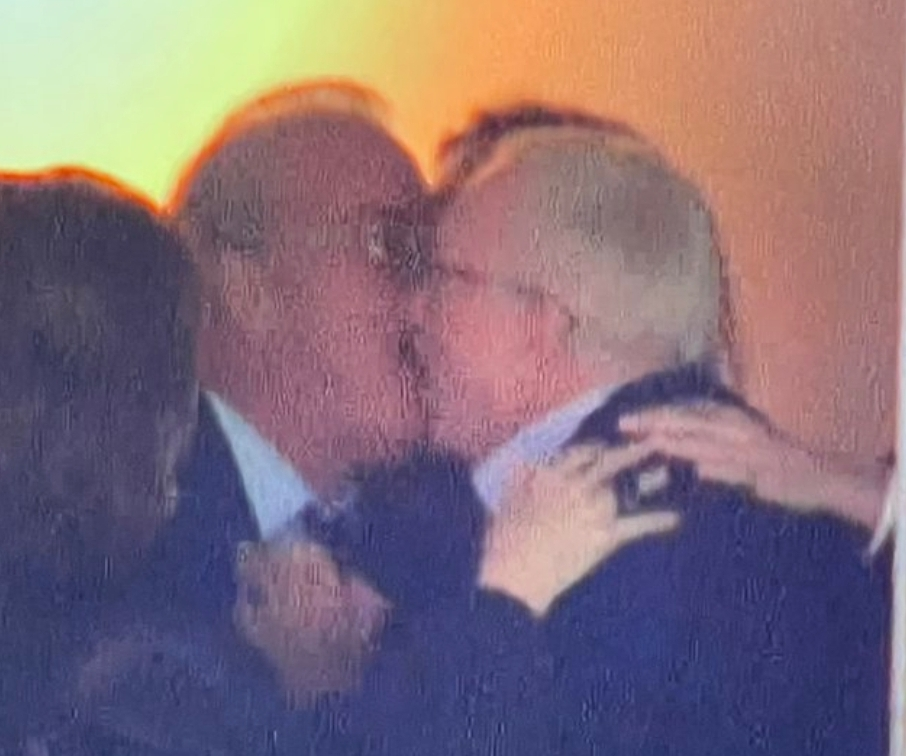 Jerry Jones Spotted Kissing His Son on the Lips After Overtime Win Over the Patriots