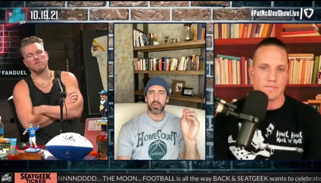 """Aaron Rodgers Takes a Shot at """"PC Woke Culture"""""""